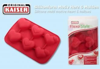 167 pcs. KAISER silicone mold motive heart 6 hollows