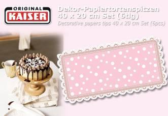 1.120 Stück KAISER Dekor-Papiertortenspitzen 40 x 20 cm Set (6tlg)